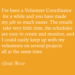 Testimonials ClickHere2Volunteer (CH2V) is a truly free suite of online tools to help your organization succeed